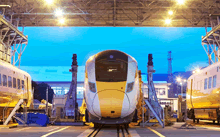 High-speed trains, driven by superior Japanese technologies, run in the U.K., the birthplace of railways
