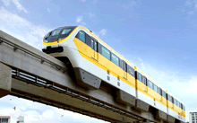 Environmentally friendly monorail system used by 70,000 riders/day in Korean metropolis
