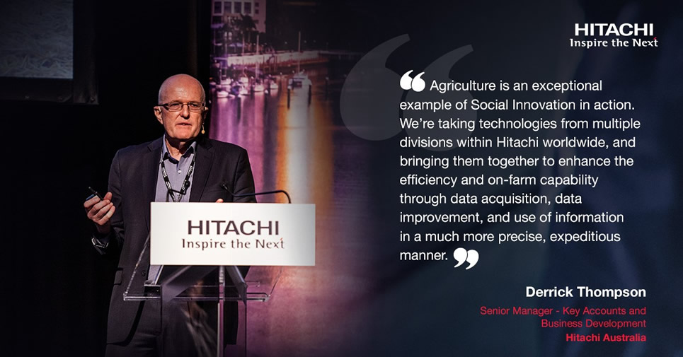 Derrick Thompson touched on Smart Agriculture